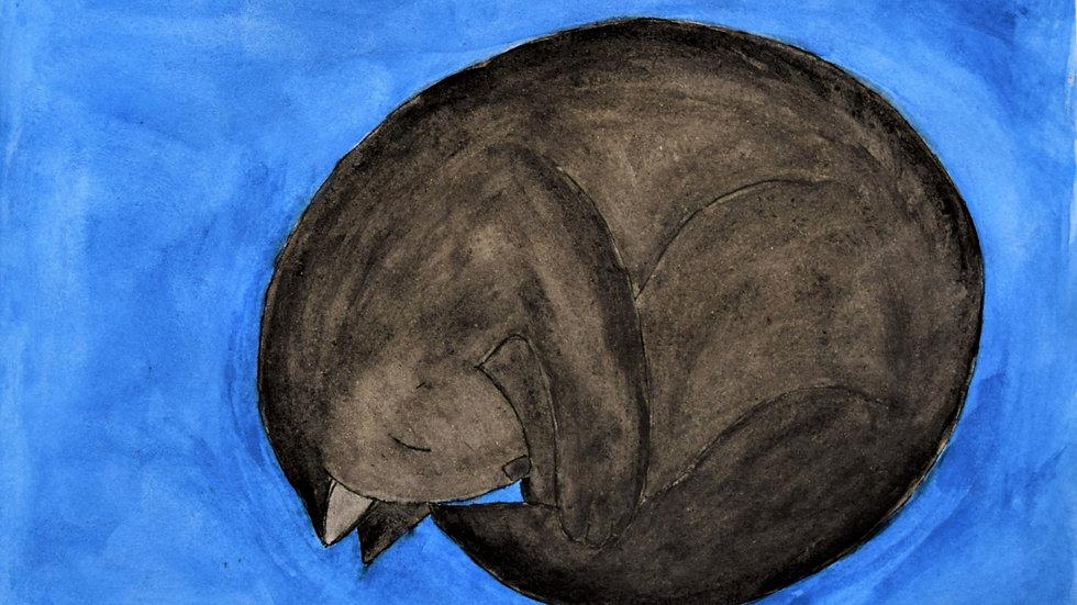 "Greeting Card: ""Sleeping Cat"""