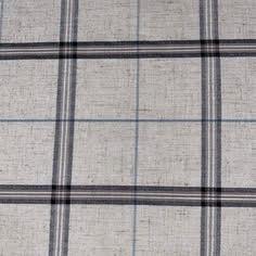 Blue Plaid Linen