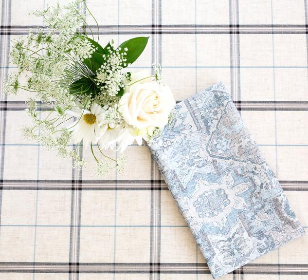 Green Plaid Woven Linen Napkin