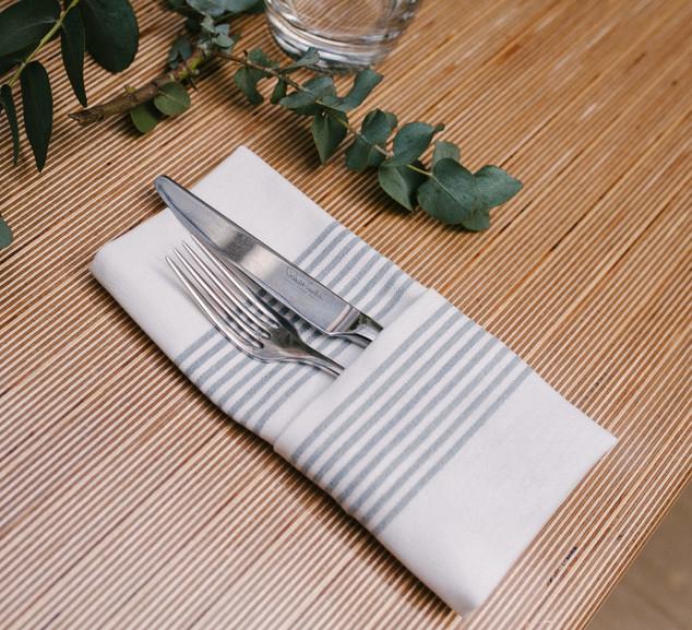 Ticking Stripe Cotton Blend Napkin