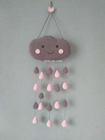 Móbile Balão E Nuvens Amigurumi De Crochê - R$ 299,99 em Mercado Livre | 480x360