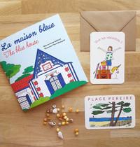"""Cartes illustrées de """"La maison bleue"""""""