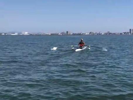 中海で練習しました!
