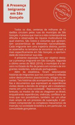 A Presença Imigrante em São Gonçalo