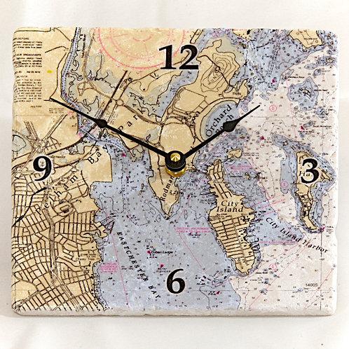 City Island Chart Clock