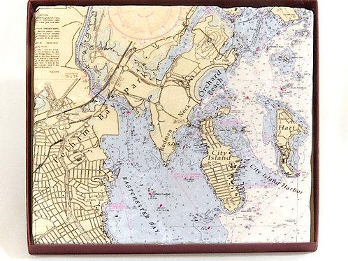 City Island Chart Trivet