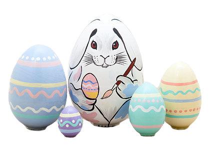 Easter Bunny Nesting Egg 5pc