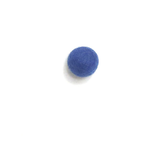 Brilliant Blue 35- Felted Shapes
