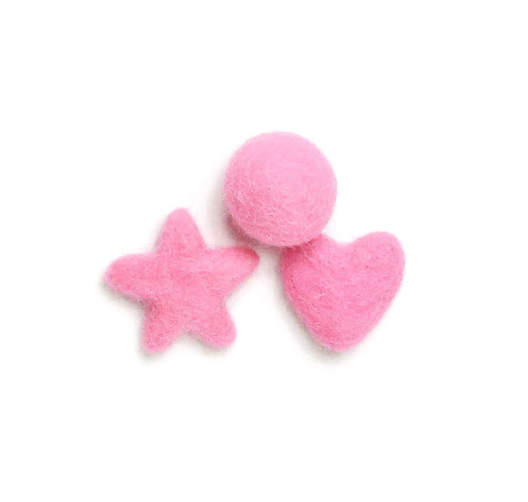 Sassy Pink 03- Felted Shapes