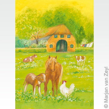 What are you doing, little hen?-postcard-95304463