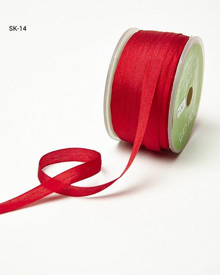 Silk Ribbon -Red 14