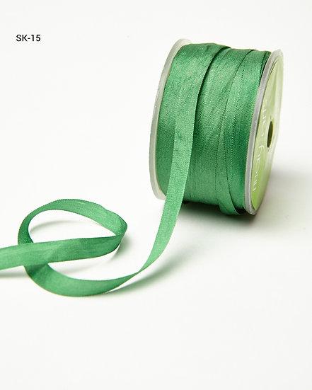 Silk Ribbon -Green 15