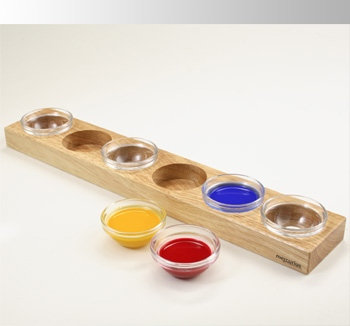 Wooden Holder for 6 Paint Jars w/out Lid-25915020