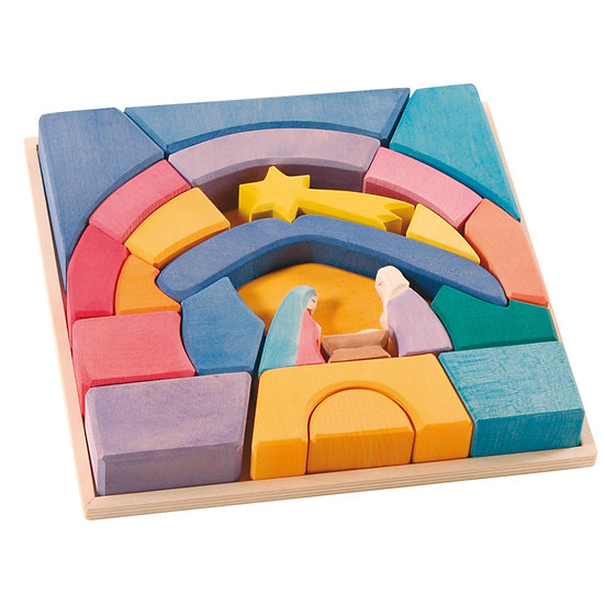 Rainbow Nativity Set