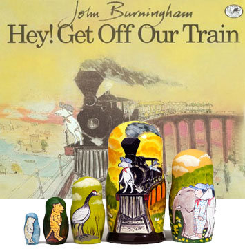 Hey! Get Off Our Train Book & Doll Set