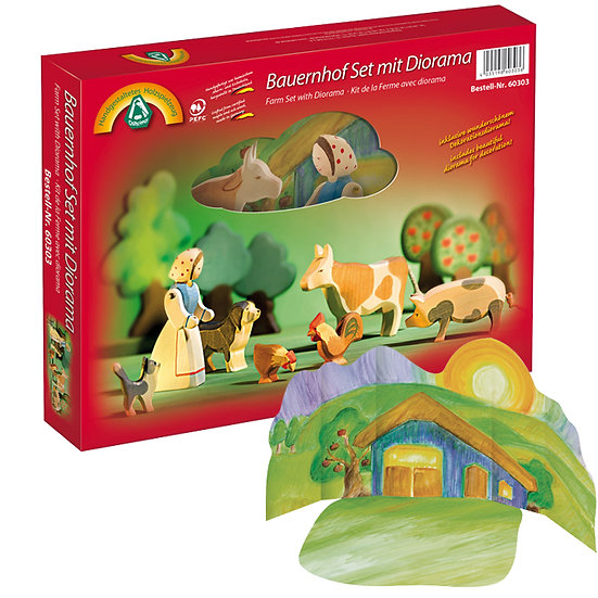 Farm Diorama Set-8pcs-60303