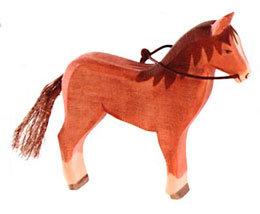 Horse, brown w/ reins-11112