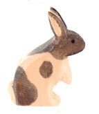 Rabbit, b&w standing-15021