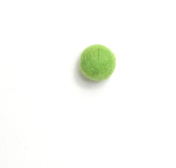 Vibrant Green 18- Felted Shapes