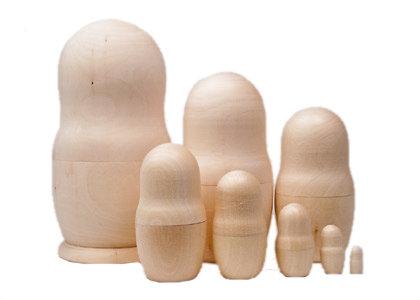 DIY Unpainted Blank Nesting Doll