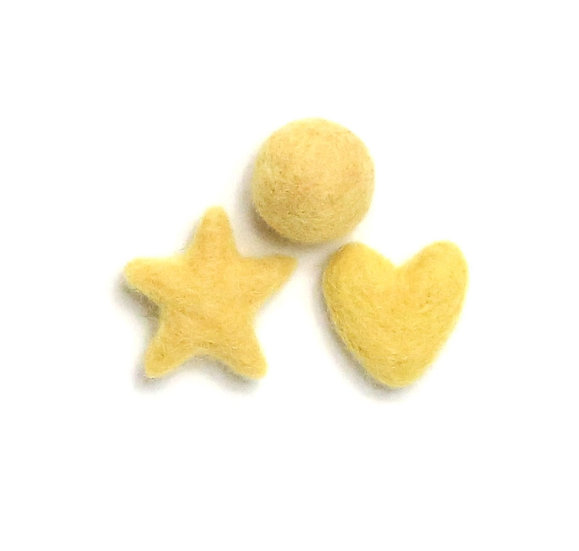 Canary Yellow 28- Felted Shapes