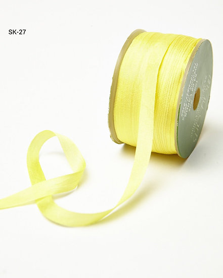 Silk Ribbon -Yellow 27