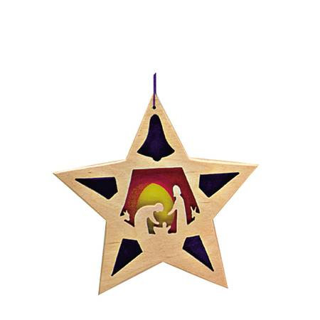 Star Holy Family Ornament-5530256