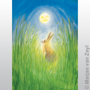 Hare and Moon-Postcards-95304342