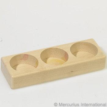 Wooden holder for 3 glass paint jars-2591501