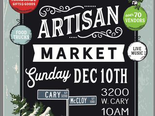 This will be the last stop for RVA Naturals this holiday season. Please come support our local artis