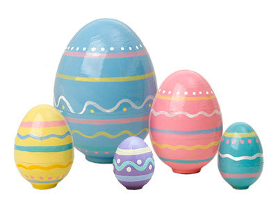 Nesting Easter Eggs 5pc