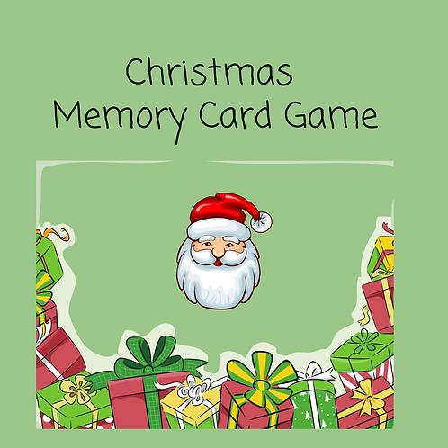 Christmas Coloring Memory Game