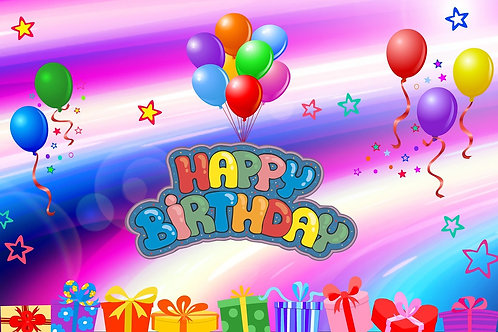 Fun colourful Happy Birthday card