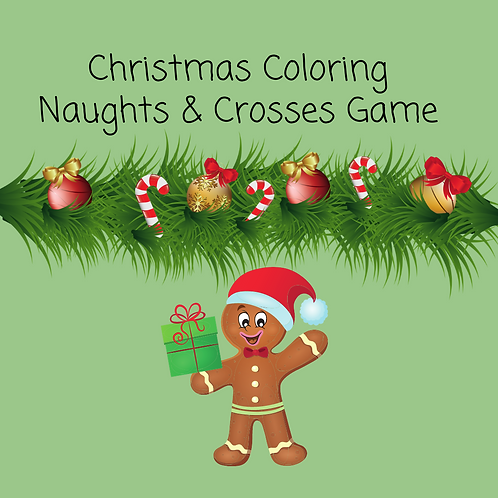 Christmas coloring naughts & crosses game
