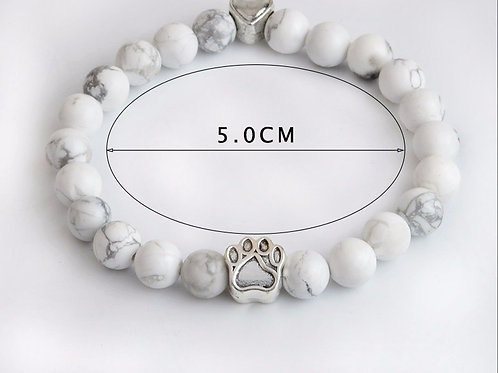 Silver White Stone bracelet