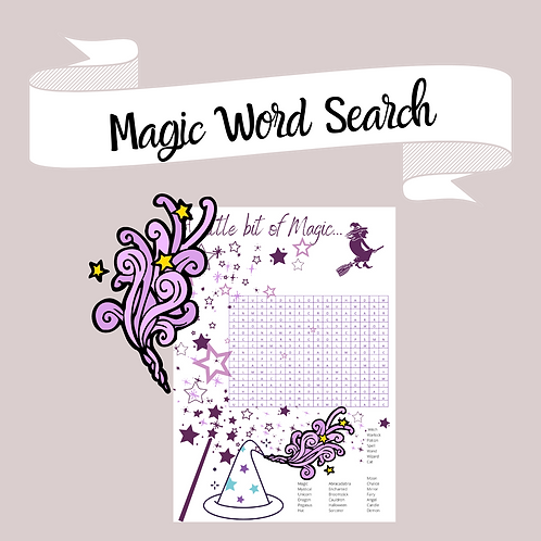 A little bit of Magic... Word search