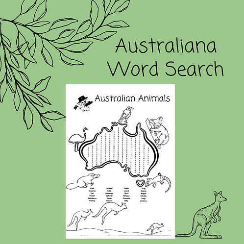 Australiana Word Search