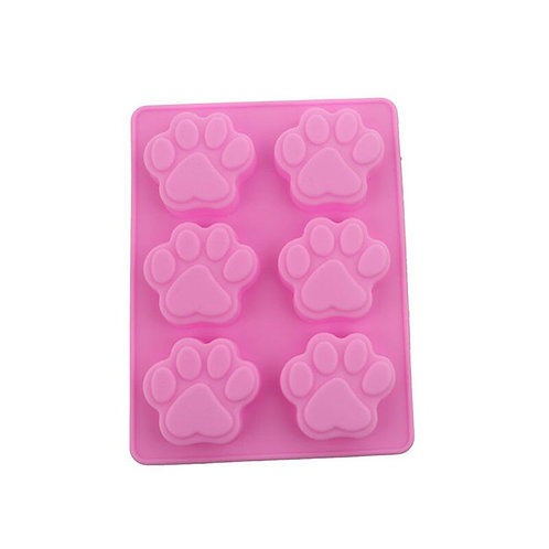 Pink Paw silicone mould