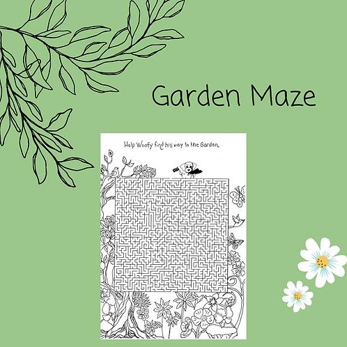 Garden Maze and coloring