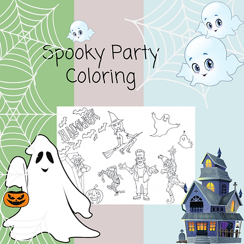 Spooky Party Coloring