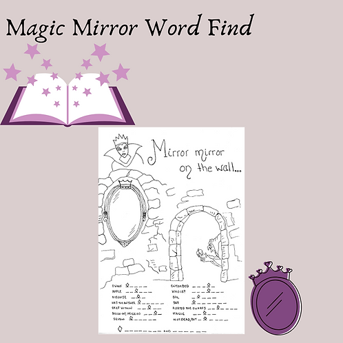 The Magic Mirror Word Find and Coloring