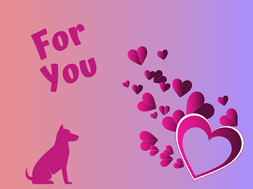 Purple and Pink Love Heart Card