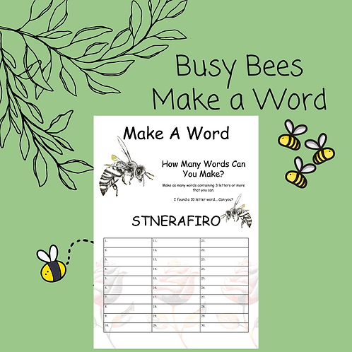 Bee Make a Word