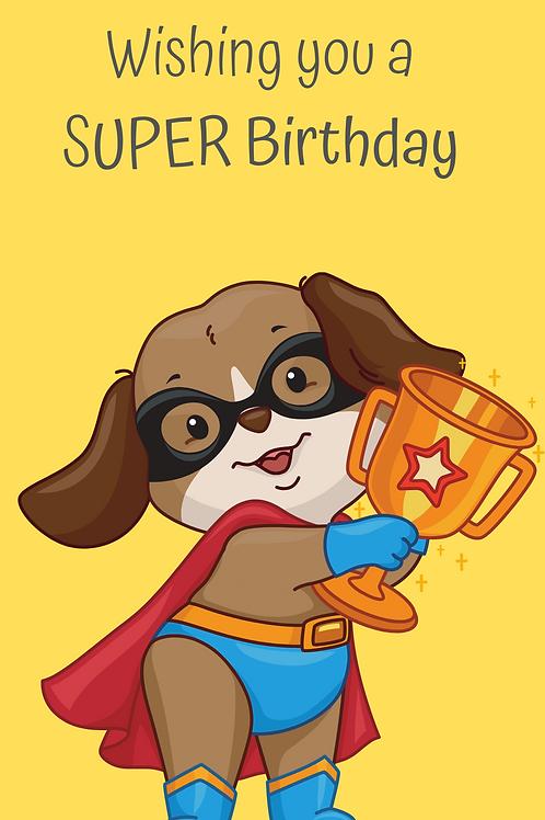 Orange Super birthday Card