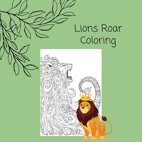 The Lion Roars coloring