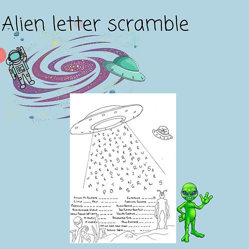 Alien Letter Scramble