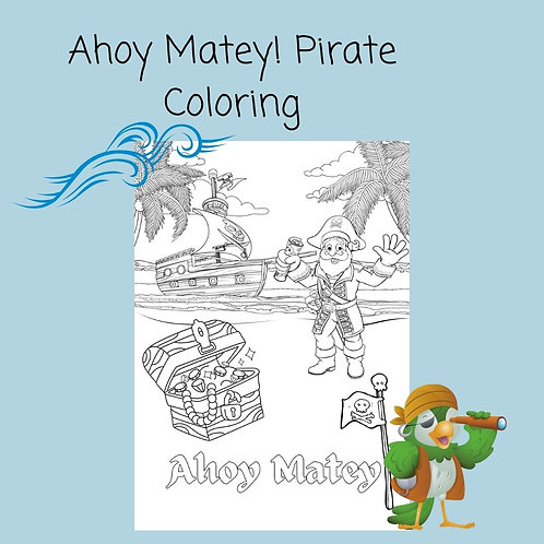 Ahoy Matey! Pirates coloring page