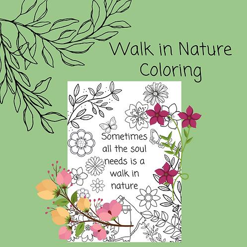 Walk in Nature Coloring