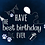 Thumbnail: Navy blue best birthday ever card