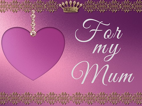 For My Mum Purple and gold card